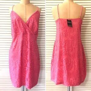 🆕 Forever 21 Dress 3X Coral Pink Lace New Plus
